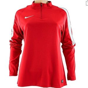 New NIKE Women's Squad 16 Long Sleeve Top Jacket